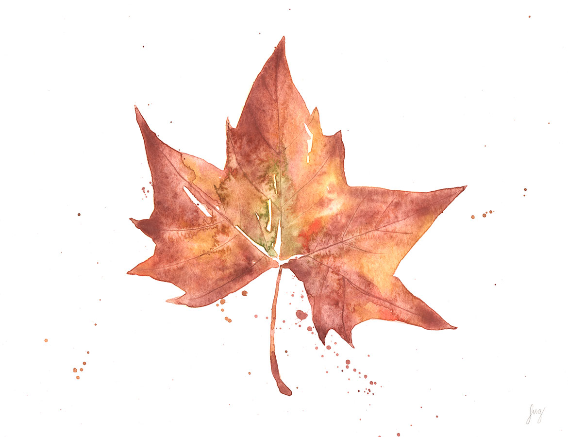 leaf-watercolor